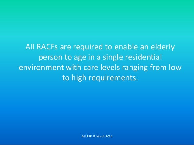 aged care facilities design guidelines