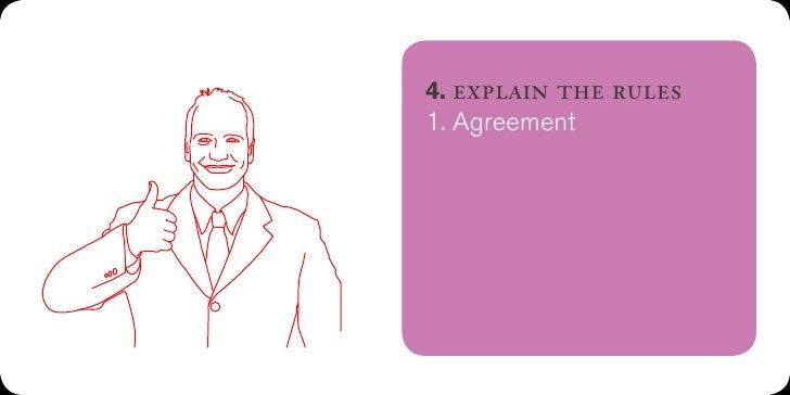 6. explain the rules1. Agreement2. Listening3. Spontaneity