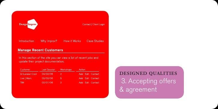 designed qualities6. Focus on goals