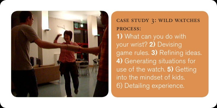 case study 3: wild watches'The session allowed ourminds to float free, andbreak away from ourpreconceived notions.' Vinay.