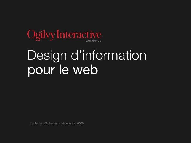 worldwide     Design d'information pour le web   Ecole des Gobelins - Décembre 2008