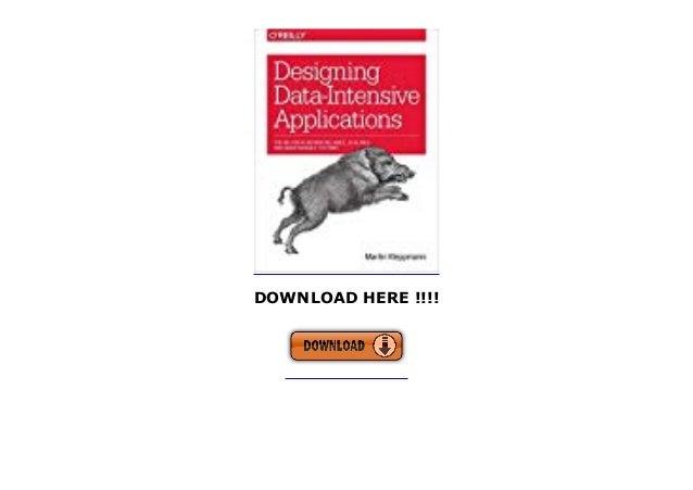 designing data intensive applications free pdf