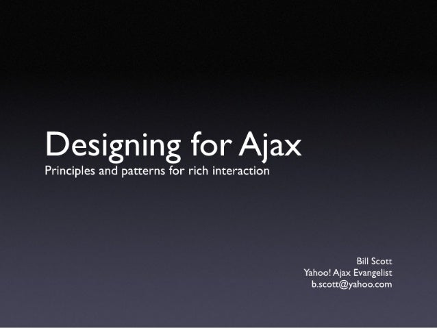 Designing For Ajax