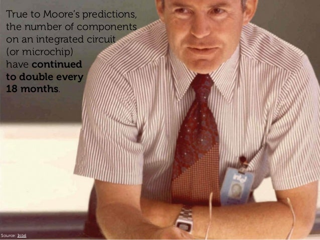 Source: Intel True to Moore's predictions, the number of components on an integrated circuit (or microchip) have continued...