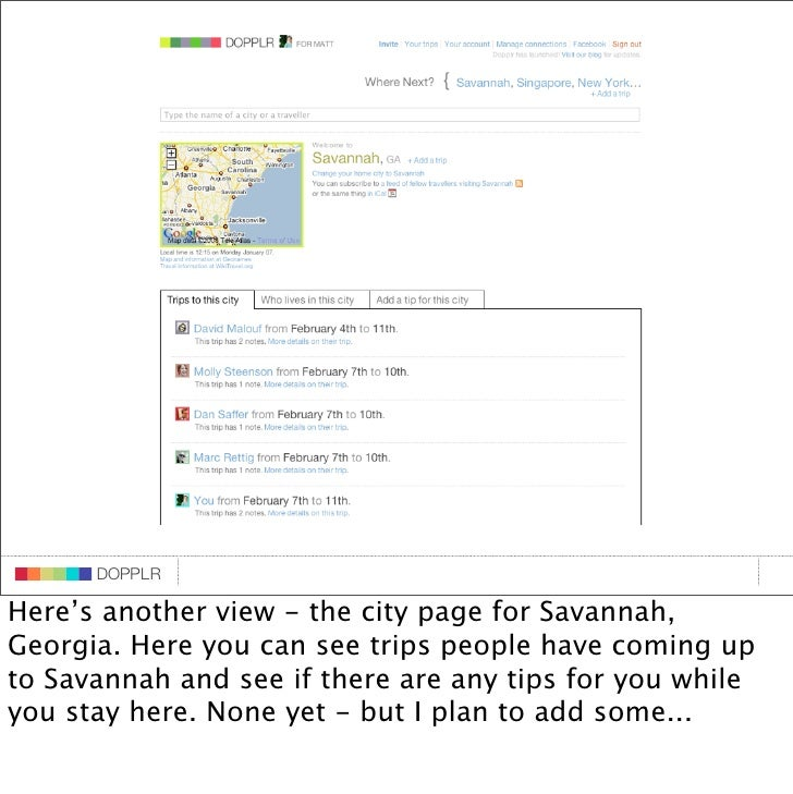 DOPPLR                    DOPPLR           DOPPLR  Here's another view - the city page for Savannah, Where next? Georgia. ...