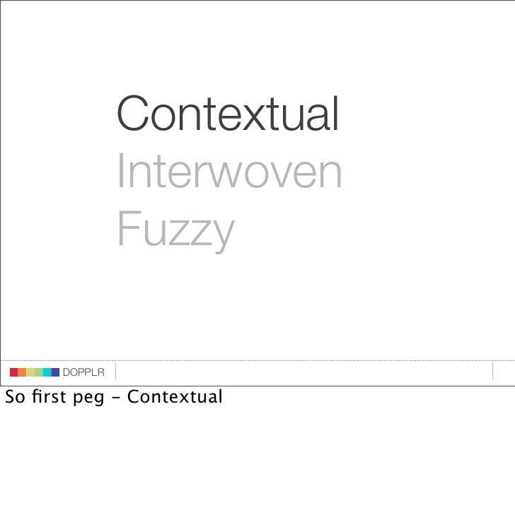 Contextual                    Interwoven                    Fuzzy                             DOPPLR                    DO...
