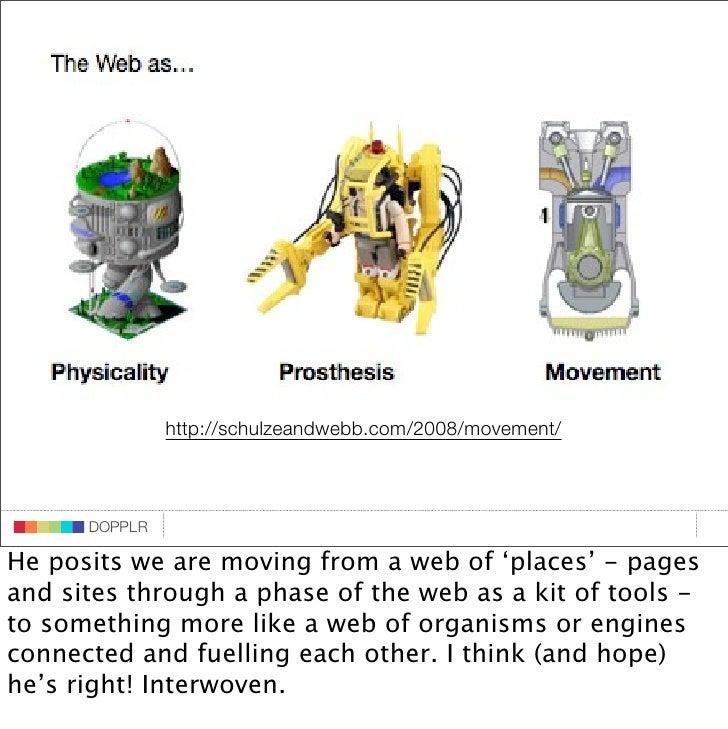 DOPPLR                http://schulzeandwebb.com/2008/movement/                 DOPPLR       DOPPLR  He posits we are movin...