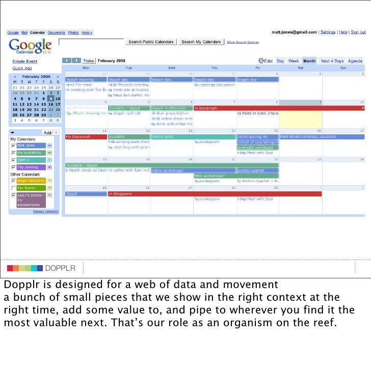 DOPPLR                    DOPPLR           DOPPLR  Dopplr is designed for a web of data and movement  Where next? a bunch ...