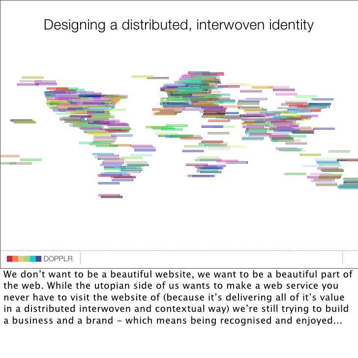 Designing a distributed, interwoven identity                                   DOPPLR                    DOPPLR           ...