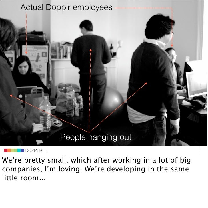 Actual Dopplr employees                               DOPPLR                    DOPPLR hanging out                       P...