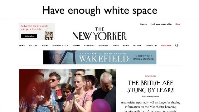 Have enough white space