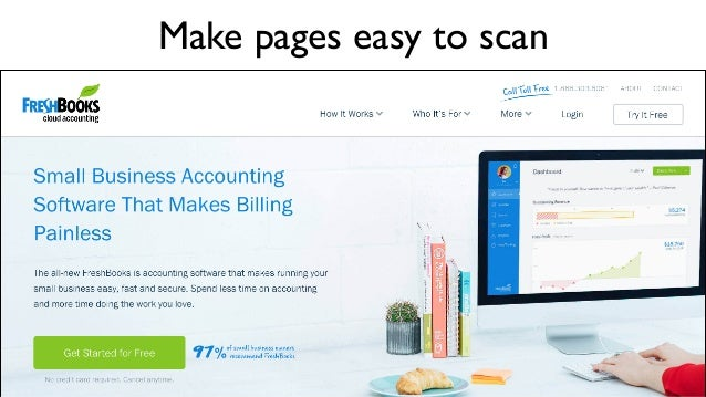 Make pages easy to scan