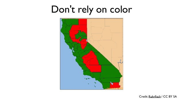 Credit: Rosenfeld Media / CC BY Don't rely on color
