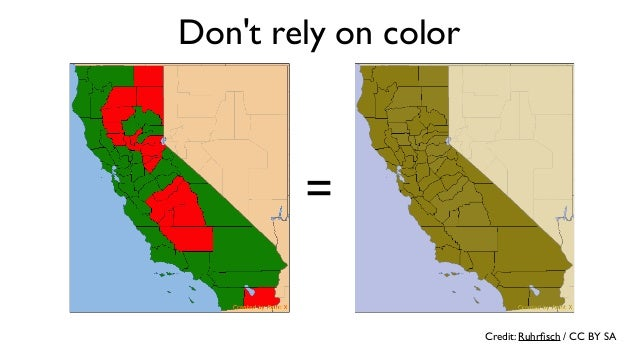 Don't rely on color