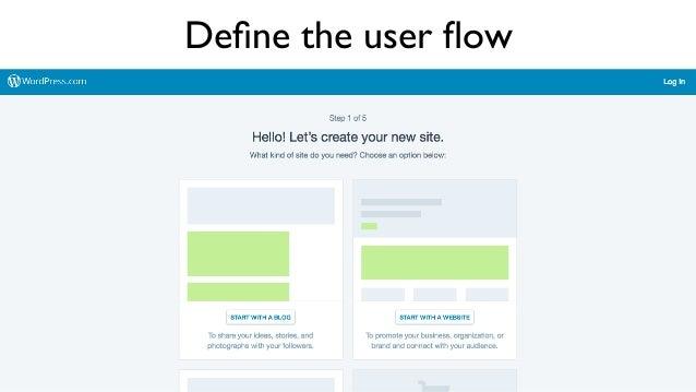 Define the user flow