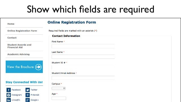 Show which fields are required