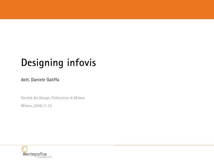 Designing infovis dott. Daniele Galiffa   Facoltà del Design, Politecnico di Milano Milano, 2006.11.15
