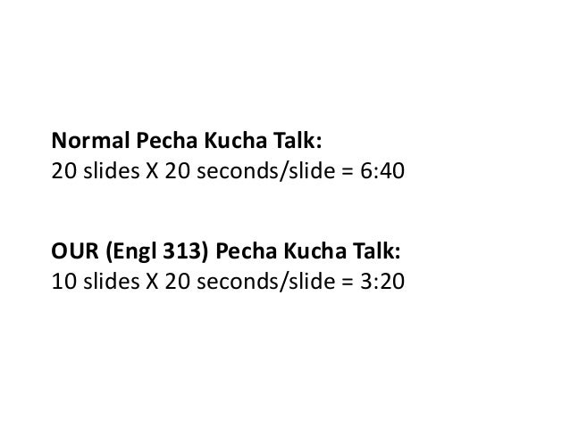 how to talk about yourself in a pecha kucha