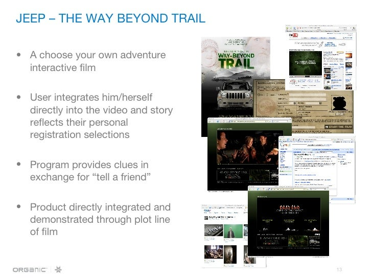 <ul><li>A choose your own adventure interactive film  </li></ul><ul><li>User integrates him/herself directly into the vide...