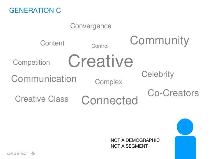GENERATION C <ul><li>Creative </li></ul>Content Control Communication Creative Class Competition Community Connected Co-Cr...