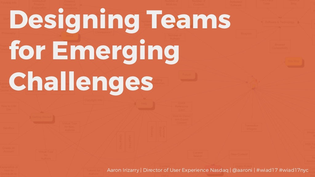 Designing Teams for Emerging Challenges