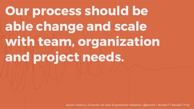 Our process should be