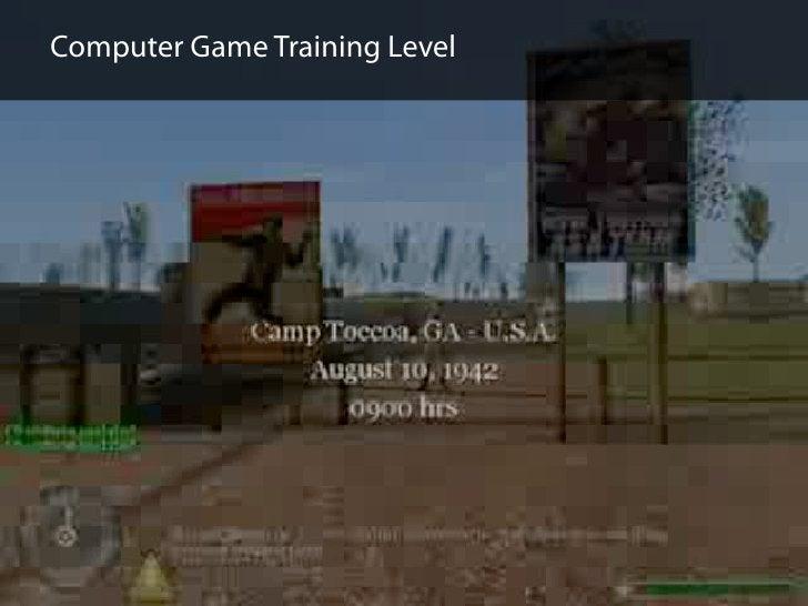 Computer Game Training Level