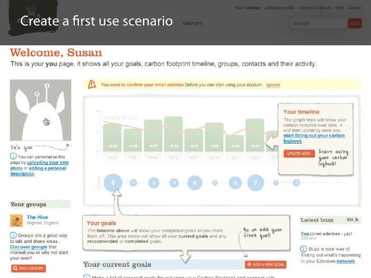 Create a first use scenario