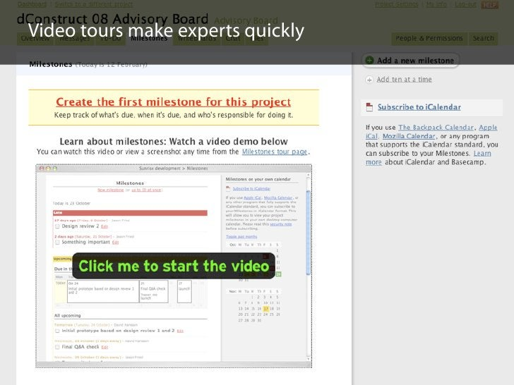 Video tours make experts quickly