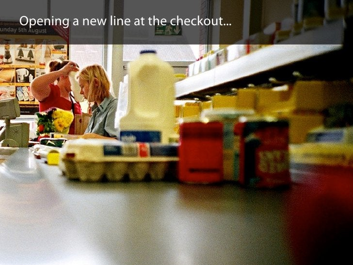 Opening a new line at the checkout...