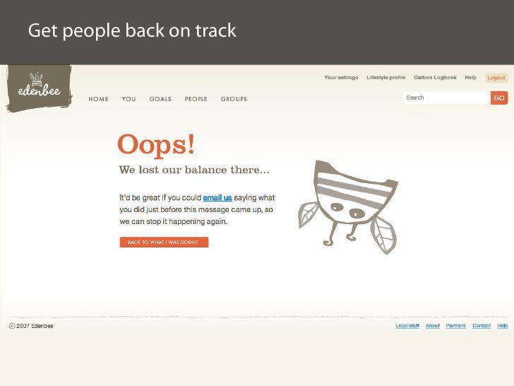Get people back on track