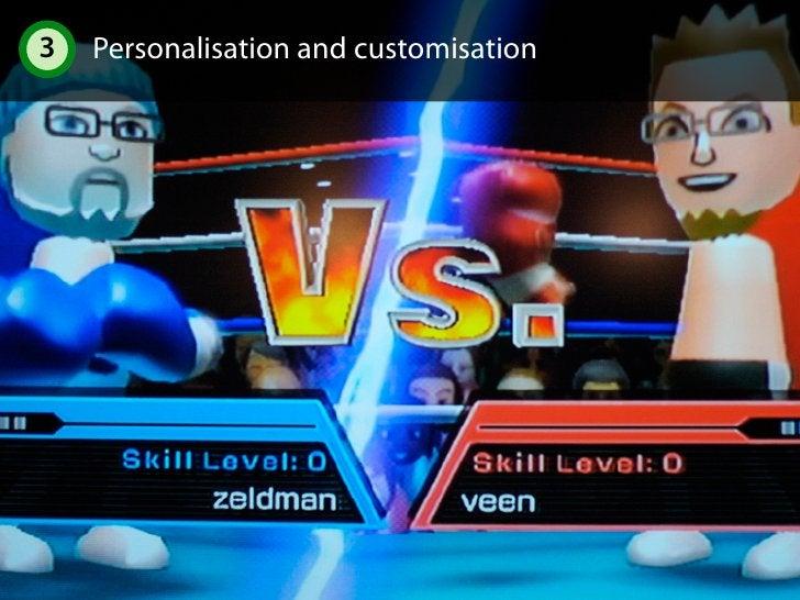 3 Personalisation and customisation 3.