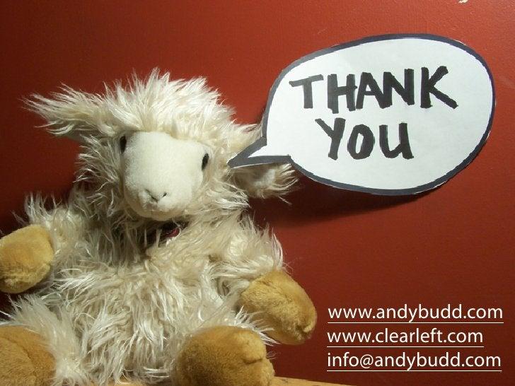 www.andybudd.com www.clearleft.com info@andybudd.com