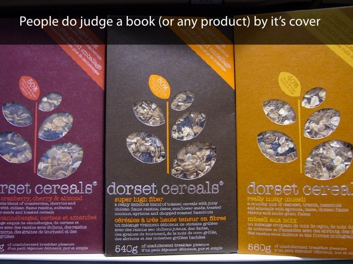 People do judge a book (or any product) by it's cover