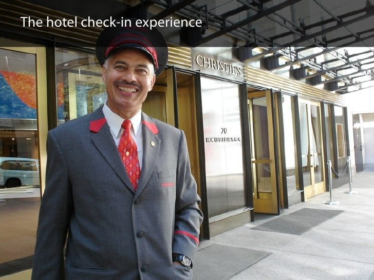 The hotel check-in experience