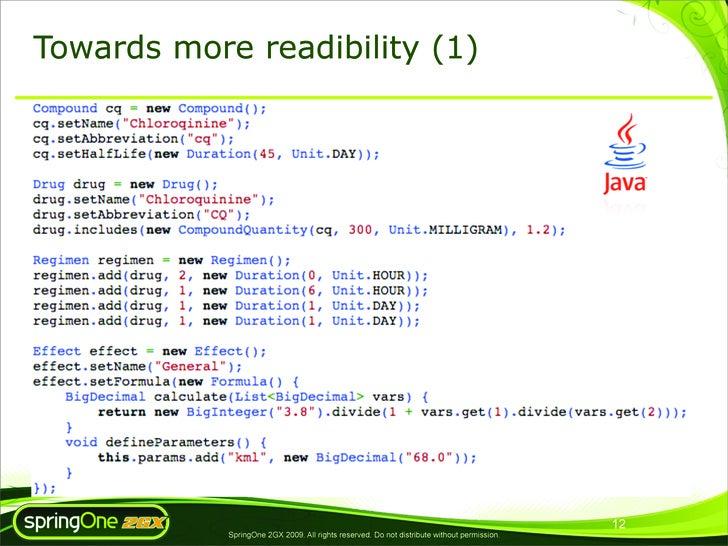Towards more readibility (1)                                                                                              ...