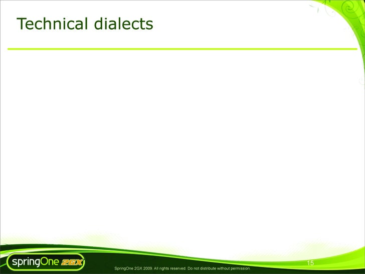Technical dialects                                                                                                  15    ...