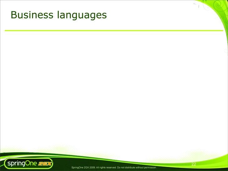 Business languages                                                                                                 22     ...