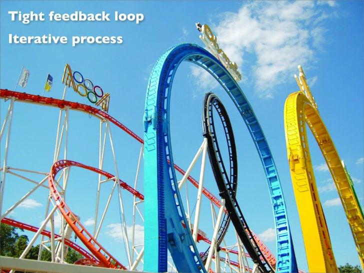 Tight feedback loop Iterative process