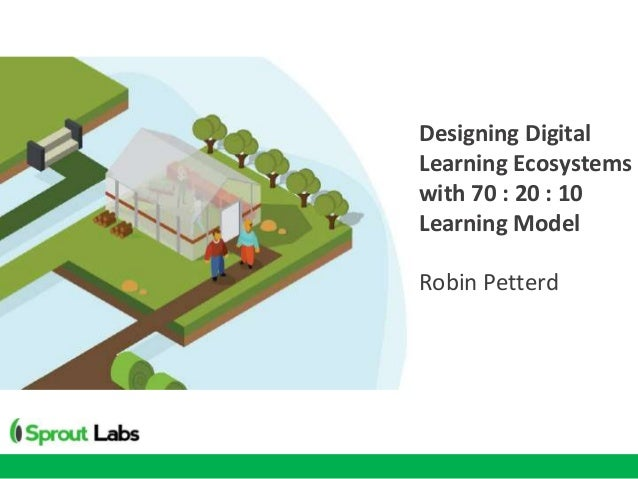 Designing Digital Learning Ecosystems with 70 : 20 : 10 Learning Model Robin Petterd