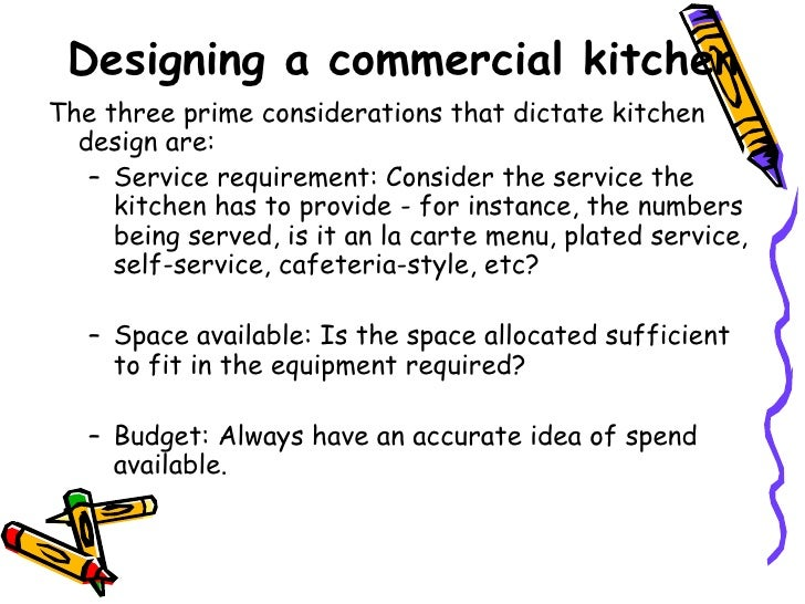 Designing A Commercial Kitchen; 2. Designing ...