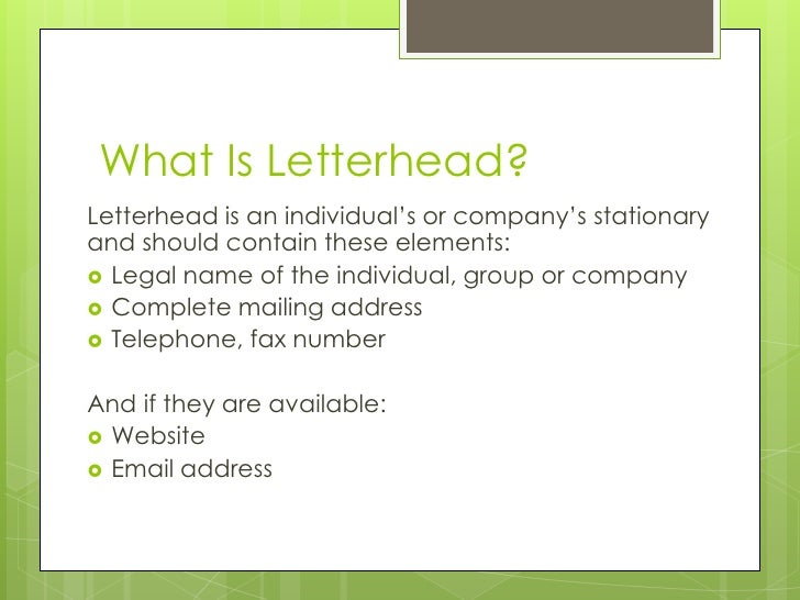 what is letter head