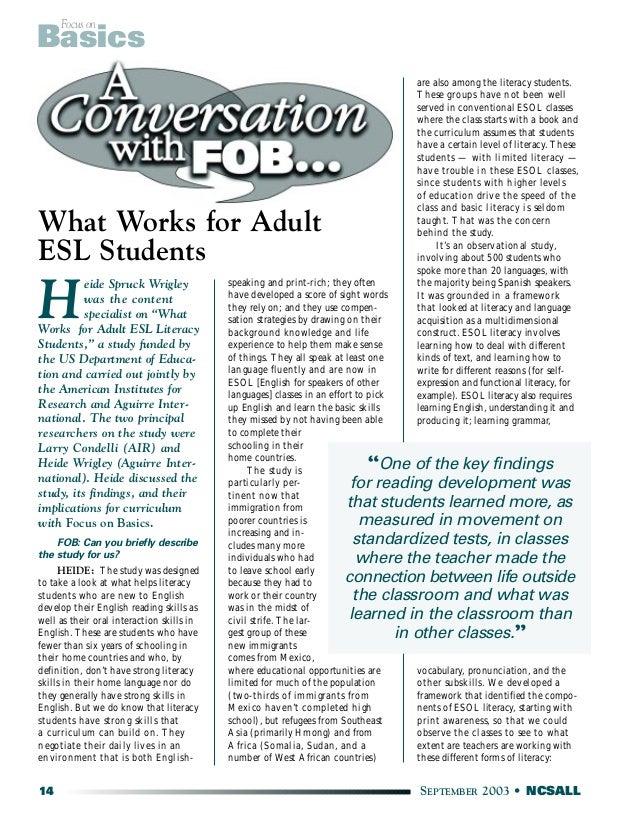 Adult Curriculum 71
