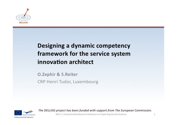 Designing	  a	  dynamic	  competency	  framework	  for	  the	  service	  system	  innova6on	  architect	  O.Zephir	  &	  S...