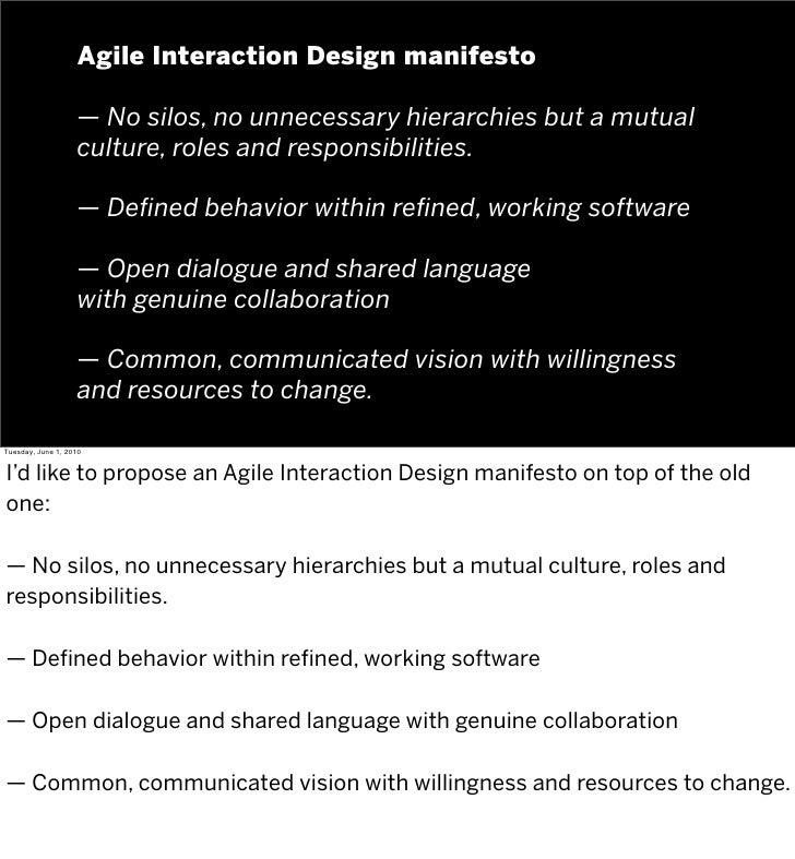 Designing Agile Interactions