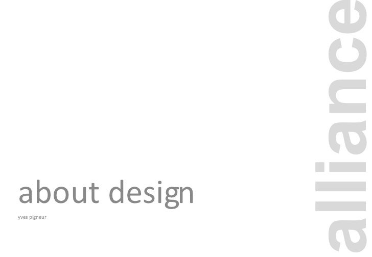 about design yves pigneur alliance