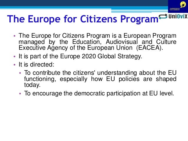 Designing a MOOC course for promoting the active participation of European citizenship Slide 3
