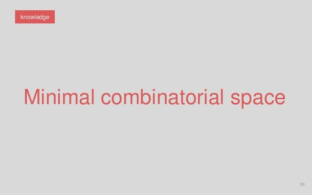 39 Minimal combinatorial space knowledge