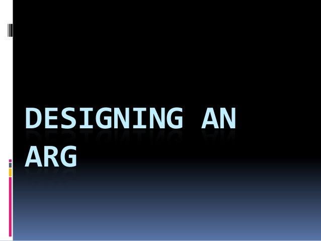 DESIGNING ANARG