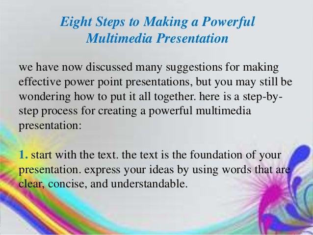 designing and impressive multimedia presentation, Presentation templates